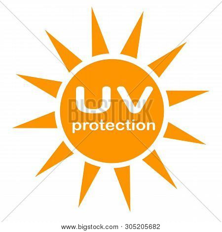 Uv Protection Logo And Icon On White Background. Flat Style. Uv Radiation Icon For Your Web Site Des