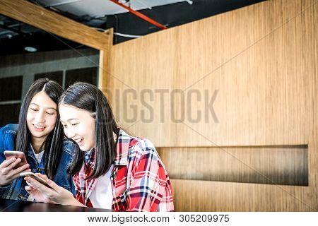 Woman Girl Teenager Using Smartphone