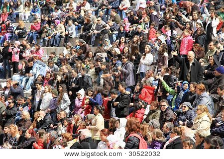 Crowd of fans