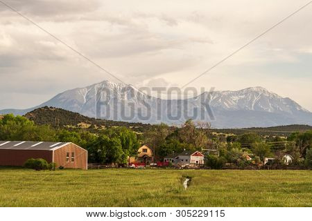 Walsenburg, Colorado and the Spanish Peak mountain range