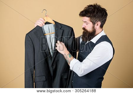 Tailoring And Clothes Design. Perfect Fit. Custom Made To Measure. Tailored Suit Concept. Fashion Fo