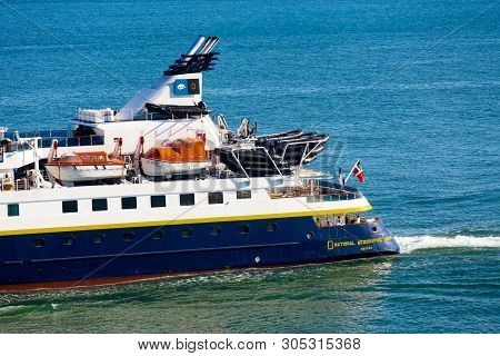 Lisbon, Portugal - September 28, 2016:  The Mv Orion Was Renamed National Geographic Orion In March