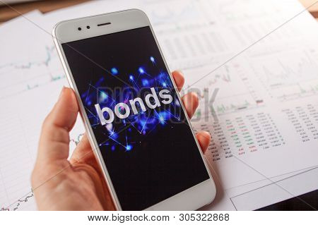 Investment In Bonds, Conservative Investment Concept. Reports And Statistics, Analysis Of The Corpor
