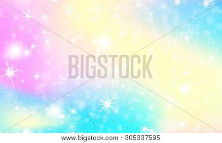 Rainbow Mermaid Background. Unicorn Pattern. Color Princess Background. Christmas Rainbow Backdrop.