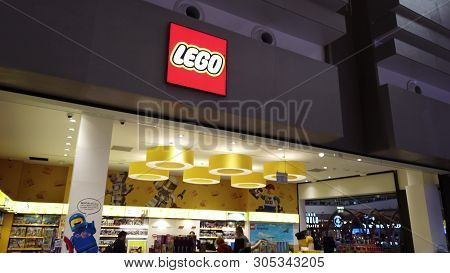 Istanbul, Turkey - May 7, 2019: New Lego Store Of The New Istanbul Airport. The Istanbul Yeni Havali