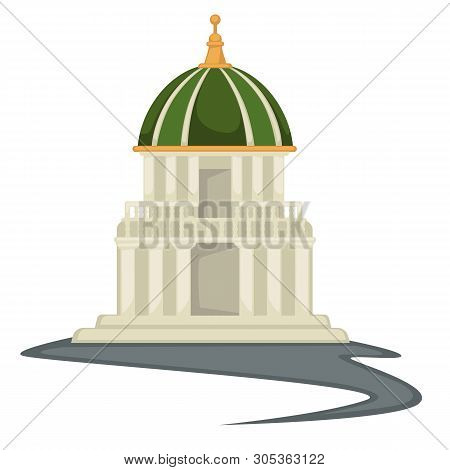 Renaissance Style Building Tower Or Temple With Dome And Spire