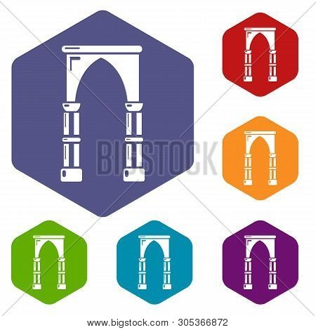 Archway Construction Icon. Simple Illustration Of Archway Construction Vector Icon For Web