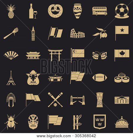 Nationwide Icons Set. Simple Set Of 36 Nationwide Vector Icons For Web For Any Design