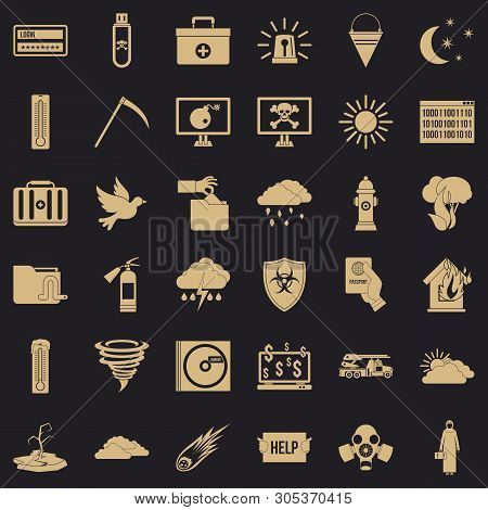 Natural Task Icons Set. Simple Set Of 36 Natural Task Vector Icons For Web For Any Design