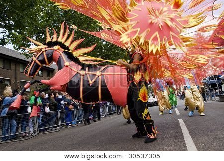 Giant Horse Dancer From The Phoenix Arts Community Group At The Notting Hill Carnival