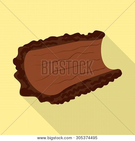 Isolated Object Of Bark  And Piece Symbol. Collection Of Bark  And Lumber  Vector Icon For Stock.