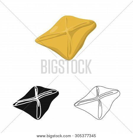 Isolated Object Of Manti  And Jiaozi Sign. Set Of Manti  And Dough Stock Symbol For Web.