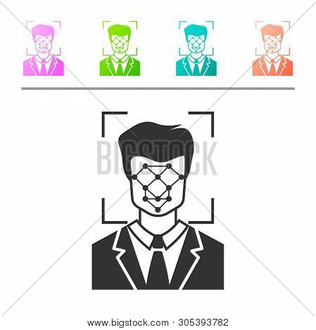 Grey Face Recognition Vector & Photo (Free Trial)   Bigstock
