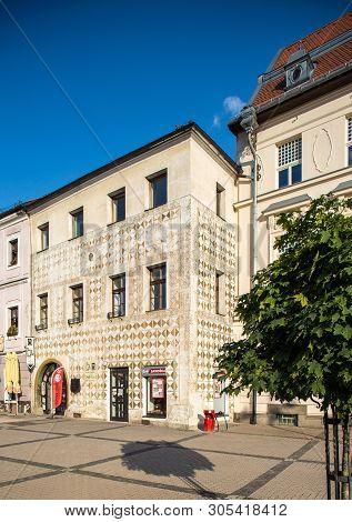 Banska Bystrica, Slovakia - August 06, 2015: Old Renaissance Tenement House In Banska Bystrica, Slov
