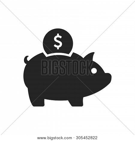 Piggy Bank Icon Isolated On White Background. Piggy Bank Icon In Trendy Design Style. Piggy Bank Vec