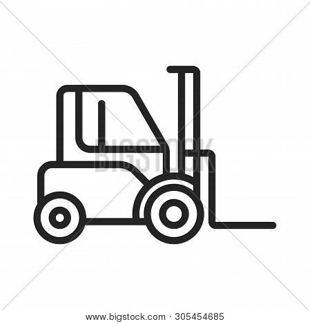 Loader Truck Icon Isolated On White Background. Loader Truck Icon In Trendy Design Style. Loader Tru