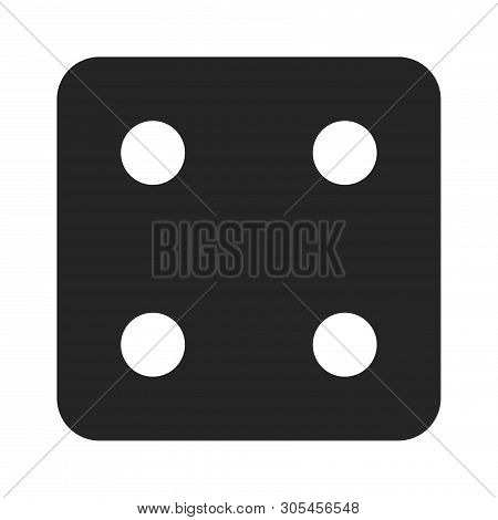 Dice Number Four Icon Isolated On White Background. Dice Number Four Icon In Trendy Design Style. Di