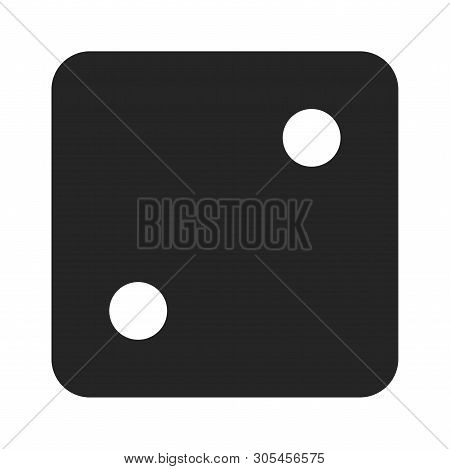 Dice Number Two Icon Isolated On White Background. Dice Number Two Icon In Trendy Design Style. Dice