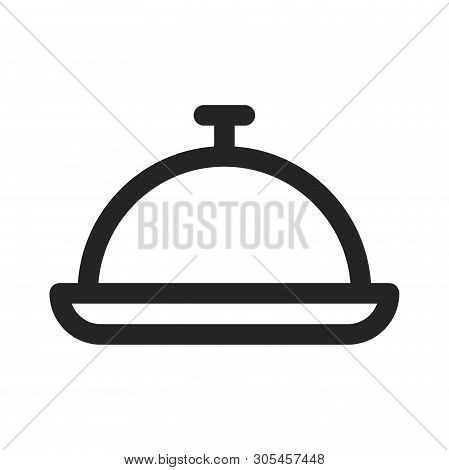 Food Tray Icon Isolated On White Background. Food Tray Icon In Trendy Design Style. Food Tray Vector