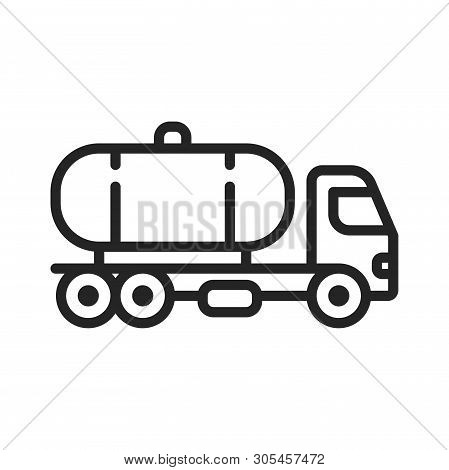 Tank Truck Icon Isolated On White Background. Tank Truck Icon In Trendy Design Style. Tank Truck Vec
