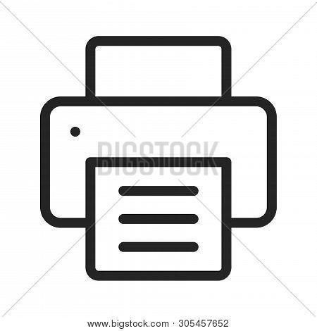 Printer Icon Isolated On White Background. Printer Icon In Trendy Design Style. Printer Vector Icon