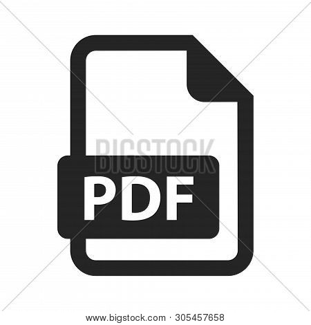 Pdf Icon Isolated On White Background. Pdf Icon In Trendy Design Style. Pdf Vector Icon Modern And S