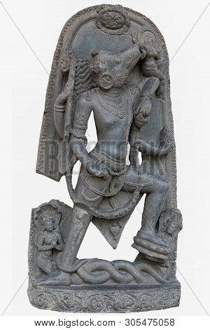 Archaeological Sculpture Of Varahavatara (the Boar Incarnation Of Lord Vishnu) From Tenth Century, B