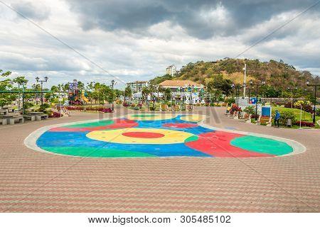 Panama City,panama - March 28,2019 - In The Streets Of Panama Bahia In Peninsula Of Panama City. Cas