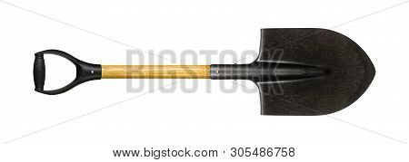 Tools Building And Repair - Small Shovel With A Handle On A White Background. It Is Isolated, The Wo