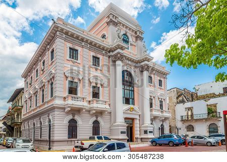 Building Of City Hall In Old District (casco Viejo) Of Panama City, Panama