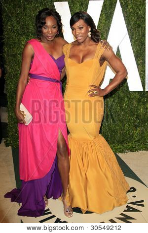 LOS ANGELES - FEB 26:  Venus Williams; Serena Williams arrive at the 2012 Vanity Fair Oscar Party  at the Sunset Tower on February 26, 2012 in West Hollywood, CA