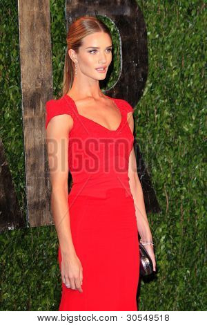 LOS ANGELES - FEB 26:  Rosie Huntington-Whiteley arrives at the 2012 Vanity Fair Oscar Party  at the Sunset Tower on February 26, 2012 in West Hollywood, CA
