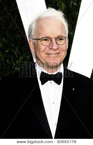 LOS ANGELES - FEB 26:  Steve Martin arrives at the 2012 Vanity Fair Oscar Party  at the Sunset Tower on February 26, 2012 in West Hollywood, CA