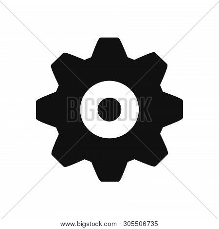 Setting Gear Icon Isolated On White Background. Setting Gear Icon In Trendy Design Style. Setting Ge