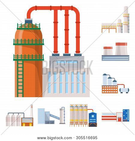 Vector Design Of Industry And Building Icon. Set Of Industry And Construction Stock Symbol For Web.