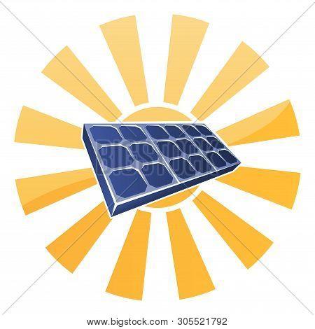 Sun And Solar Panel Photovoltaics Cell Concept