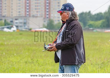 Balashikha, Moscow Region, Russia - May 25, 2019: Pilot Of Rusjet Aviation Sports Club Mikhail Mukhi