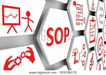 Sop Concept Cell Background 3d Render Illustration