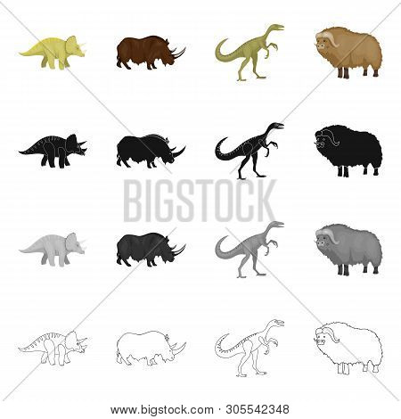 Vector Illustration Of Animal And Character Icon. Collection Of Animal And Ancient  Stock Vector Ill
