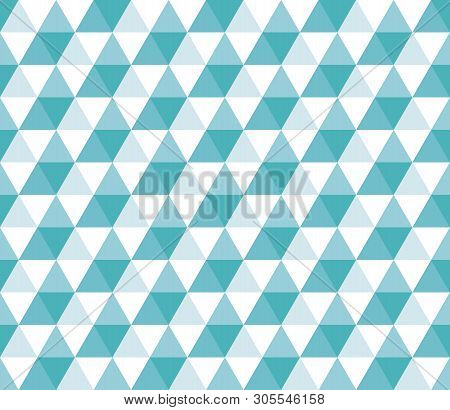 Seamless Geometric Pattern With Colorful Triangles On White Background. Seamless Abstract Triangle G