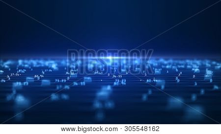 Big Data Visualization Concept. Machine Learning Algorithms. Analysis Of Information. Technology Dat