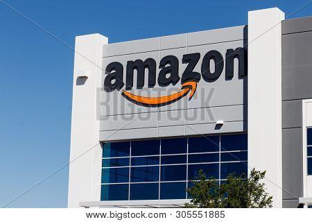 Las Vegas - Circa June 2019: Amazon.com Fulfillment Center. Amazon Is The Largest Internet-based Ret