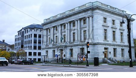 Burlington, Vermont/united States - October 29: Chittenden County Superior Courthouse, Formerly The