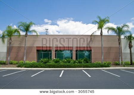 Office Building With Parking Spaces