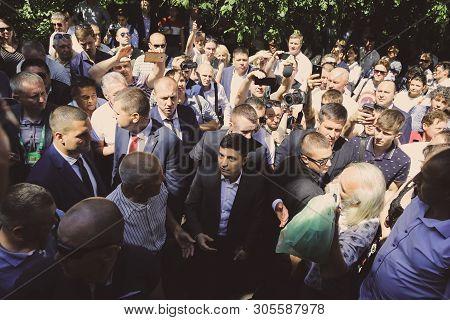 9.06.2019 Ukraine. Kyiv. President Vladymyr Zelenskyy Met With People Of The Sluga Naroda Party.