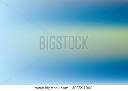 Blue Blurred Background Light Blur Backdrop. Delicate Pattern. Abstract Sky. Vector Holographic Text