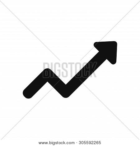 Rising Arrow Icon Isolated On White Background. Rising Arrow Icon In Trendy Design Style. Rising Arr