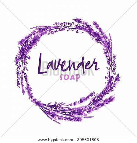 Watercolor Or Aquarelle Paintings Of Vector Lavender. Isolated Watercolour Stylixed Lavandula Or Han
