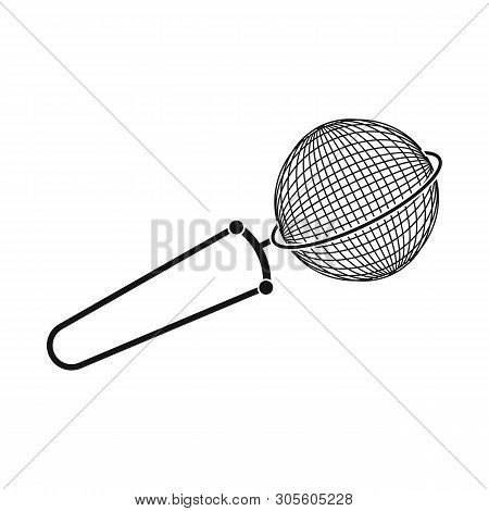 Isolated Object Of Strainer And Tea  Sign. Set Of Strainer And Tool  Vector Icon For Stock.