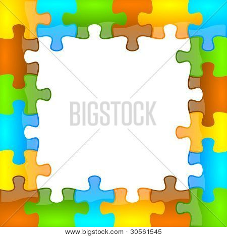 Color and glossy puzzle frame 6 x 6